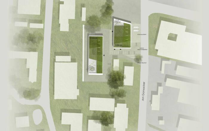 Wettbewerbsbeitrag zum Neubau eines Feuerwehrhauses und Bauhofes in Umkirch