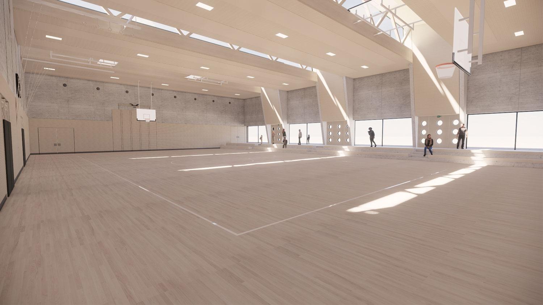 Ersatzneubau Sporthalle Fasanenhofschule Stuttgart, Halle
