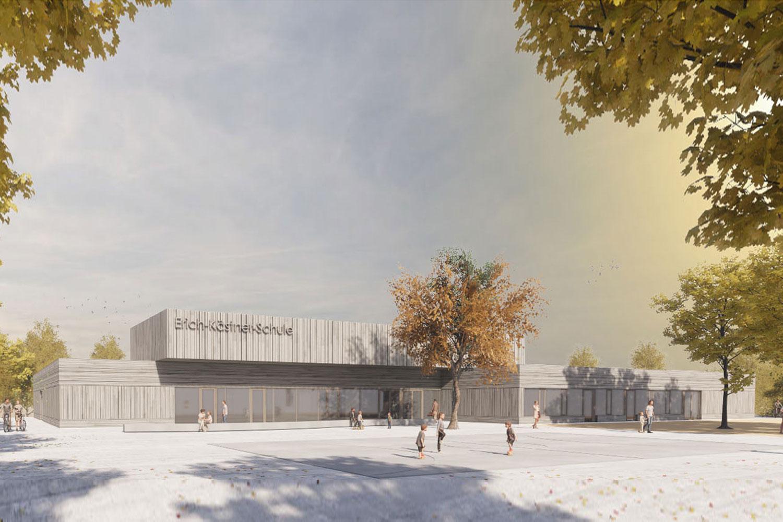 Erweiterung Erich-Kästner-Schule Darmstadt-Kranichstein, Ansicht