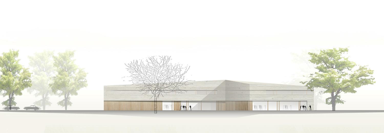 Neubau Bürgerhaus Kastel-Kostheim, Ansicht