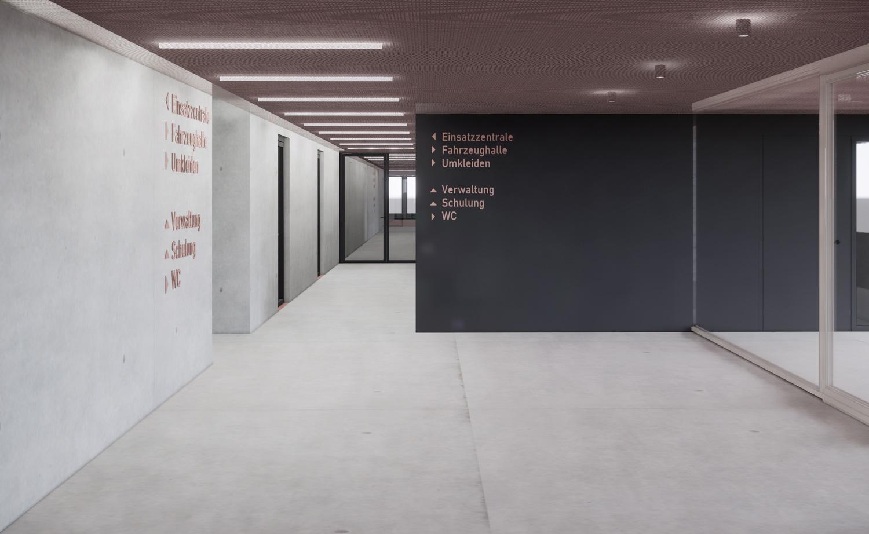 Neubau Feuerwehr und Bauhof Metzingen, Foyer