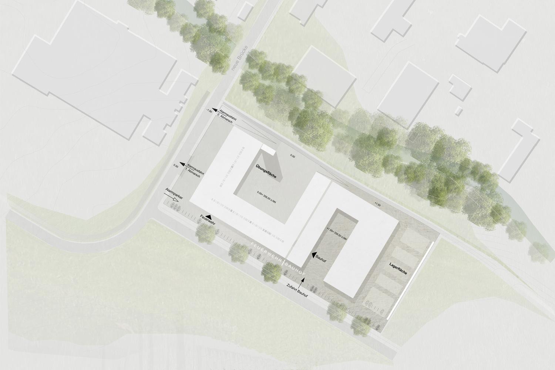 Neubau Feuerwehr und Bauhof Metzingen, Lageplan detailliert