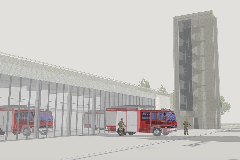 Neubau Feuerwehrtechnisches Zentrum Nordhausen, Perspektive