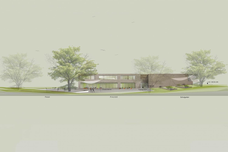Grundschule mit Turnhalle Ammerbuch-Altingen, Entwurfsansicht