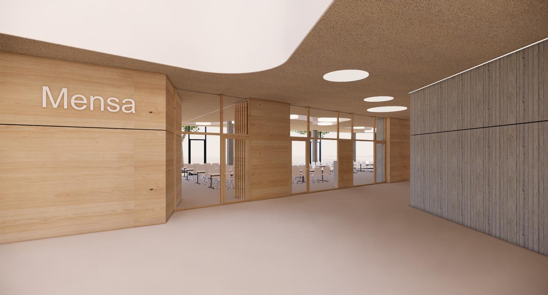 Neubau Grundschule mit Kindertageseinrichtung und Sporthalle Frankfurt/Main, Mensa