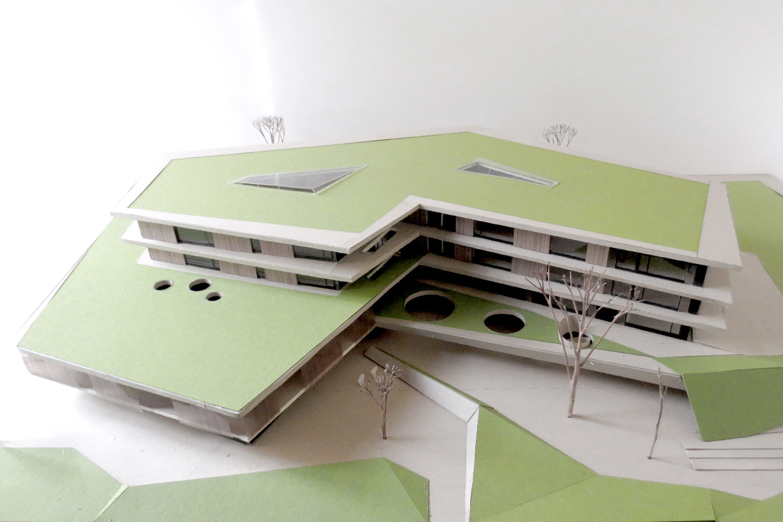 Neubau Grundschule mit Kindertageseinrichtung und Sporthalle Frankfurt/Main, Modell