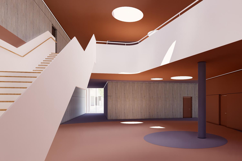 Neubau Grundschule mit Kindertageseinrichtung und Sporthalle Frankfurt/Main, Kita