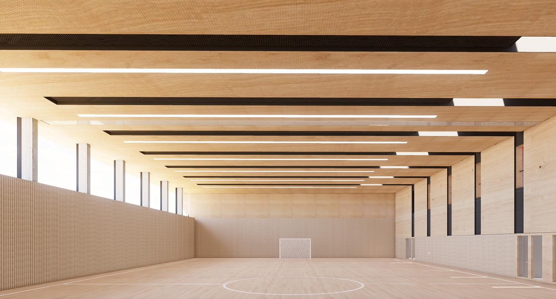 Neubau Grundschule mit Kindertageseinrichtung und Sporthalle Frankfurt/Main, Sporthalle