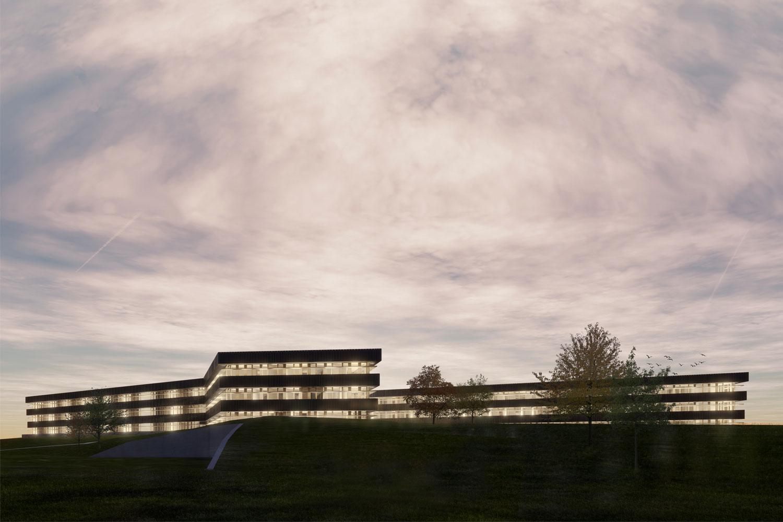 Neubau Landratsamt Landshut, Aussenperspektive