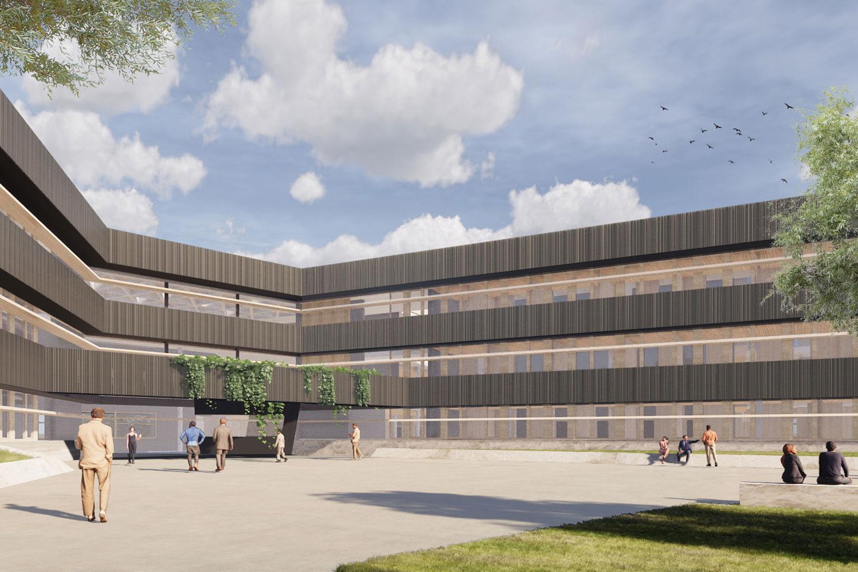 Neubau Landratsamt Landshut, Eingangshalle