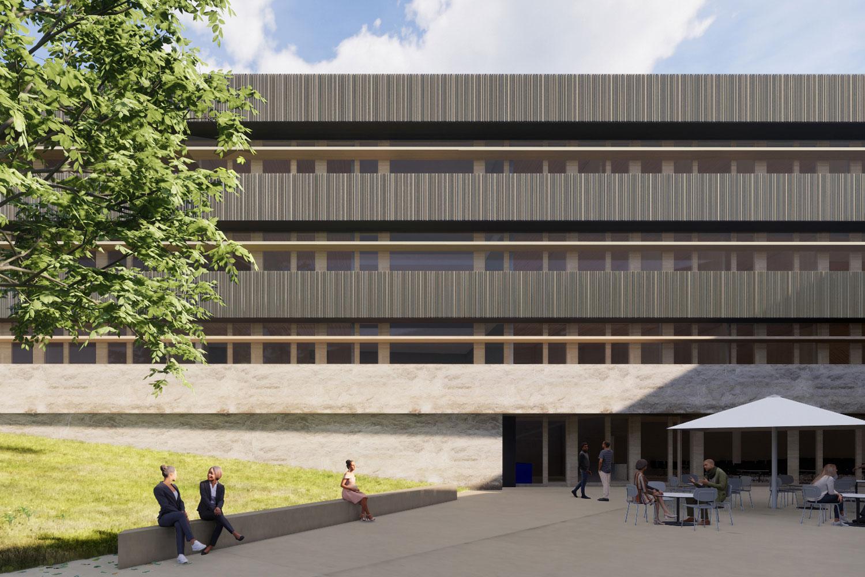Neubau Landratsamt Landshut, interner Aussenbereich