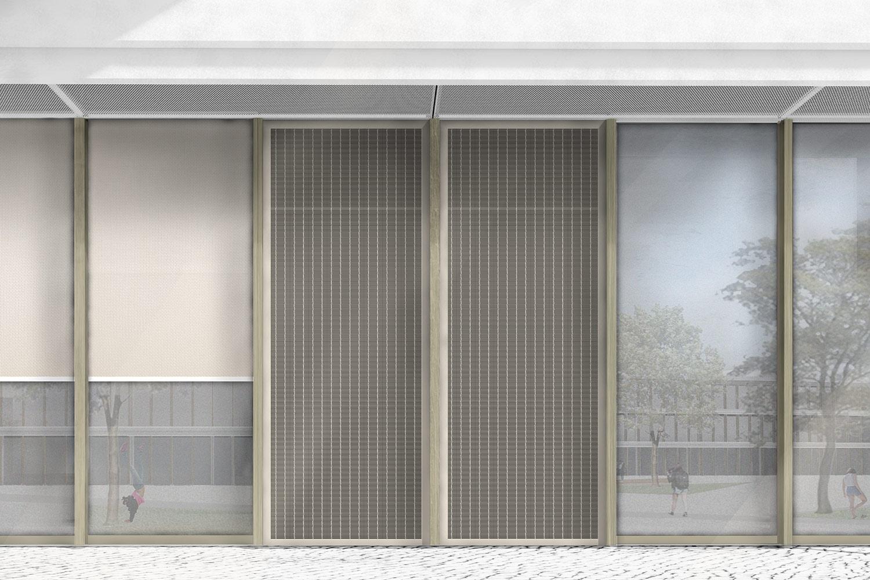 Neubau Staatliche Realschule mit Dreifeldsporthalle Landshut, Lageplan detailliert