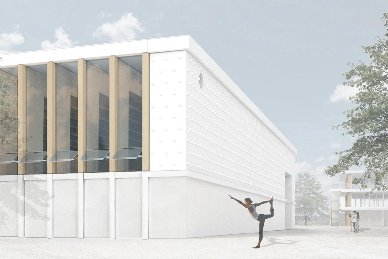 Neubau Staatliche Realschule mit Dreifeldsporthalle Landshut, Turnhalle