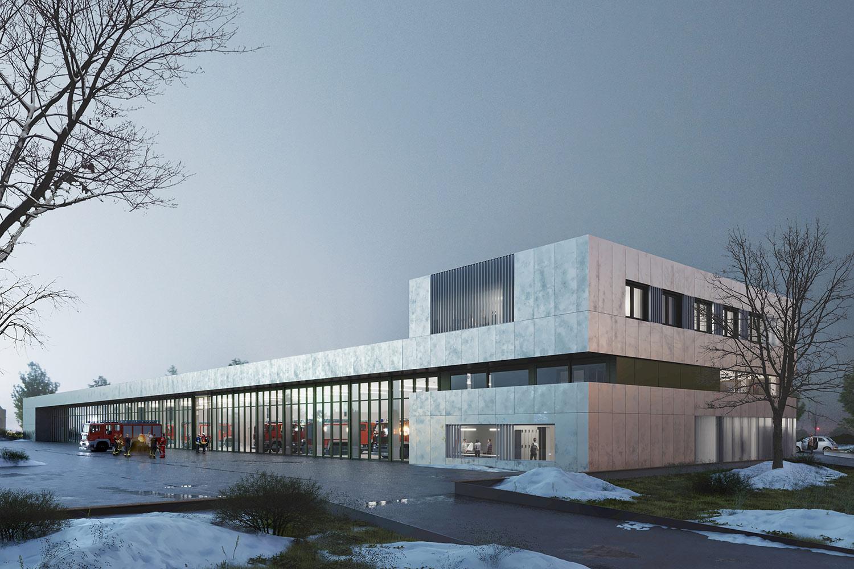 Neubau Zentrales Feuerwehrgerätehaus Rheinfelden, Perspektive