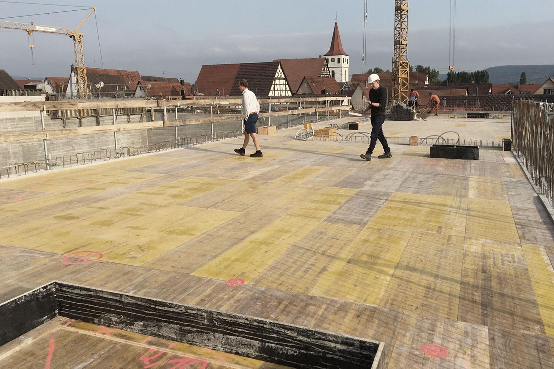 Bau der neuen Grundschule mit Turnhalle