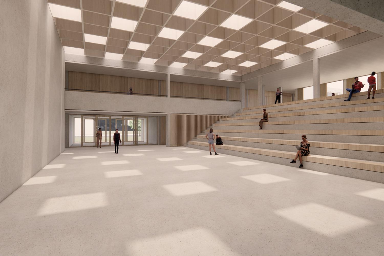 Sanierung Windeck-Gymnasium Bühl, Foyer