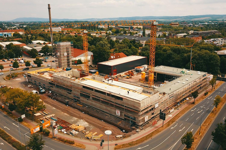 Richtfest Neubau Feuerwehrtechnisches Zentrum Nordhausen, Gesamtansicht