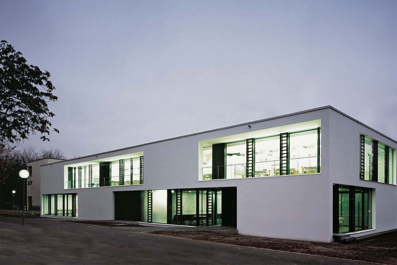 Erweiterung Albert-Schweitzer-Gymnasium Neckarsulm, Ansicht Nacht