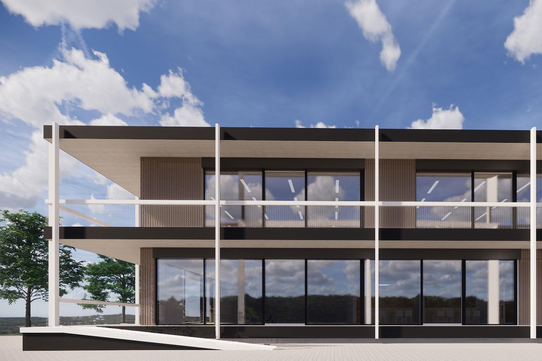 Erweiterung des Faust Gymnasiums in Staufen, Aussenperspektive