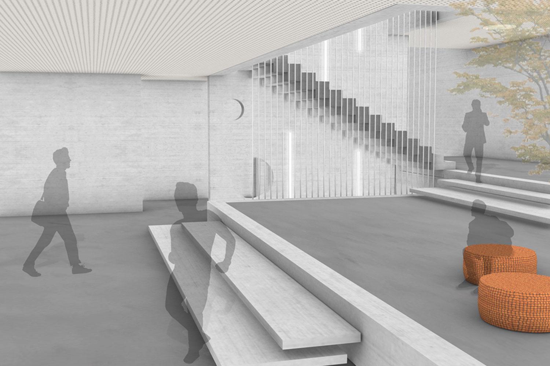 Erweiterung des Faust Gymnasiums in Staufen, Foyer