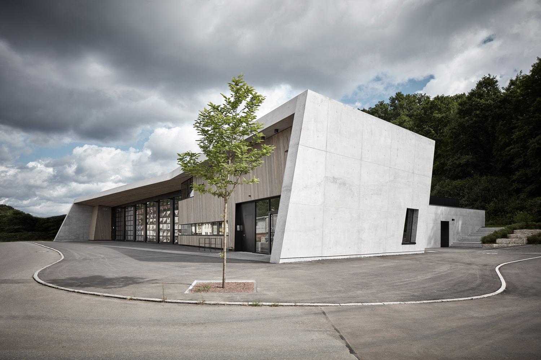 Neubau Feuerwehrhaus Wannweil, Ansicht von Vorne
