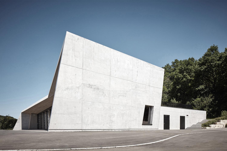 Neubau Feuerwehrhaus Wannweil, Ansicht Gebäudeseite