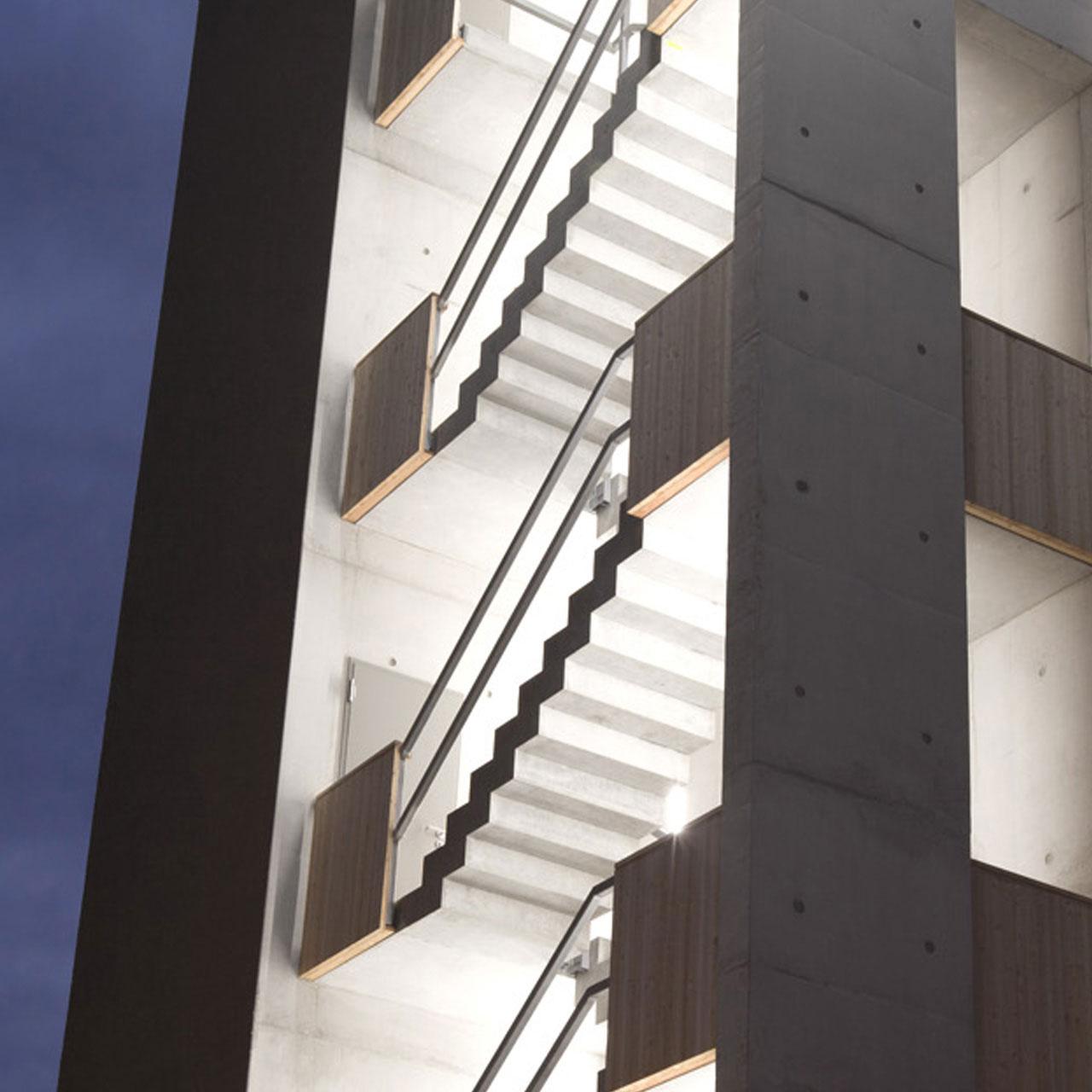 Neubau Hilfeleistungszentrum Hirschberg, Detailansicht Feuerwehrturm