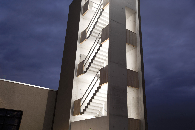 Neubau Hilfeleistungszentrum Hirschberg, Feuerwehrturm