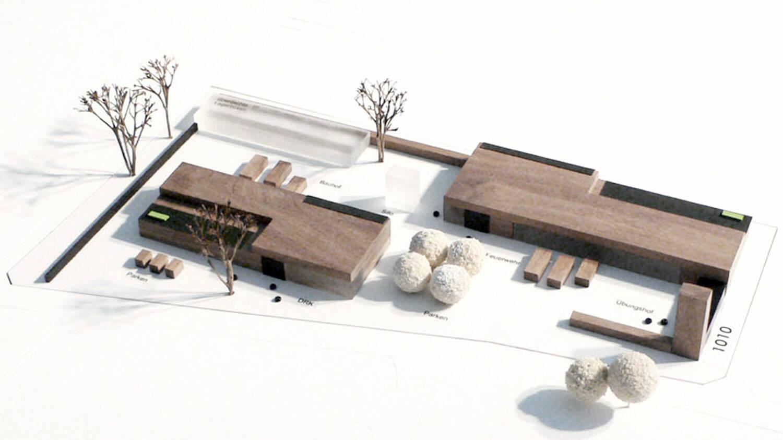 Neubau Hilfeleistungszentrum Hirschberg, Modell