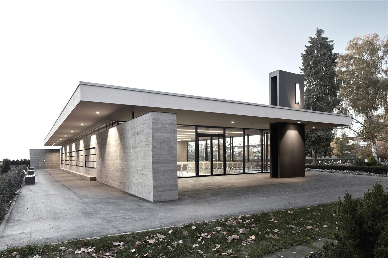 Neubau Aussegnungshalle Leinfelden-Echterdingen, Eingang