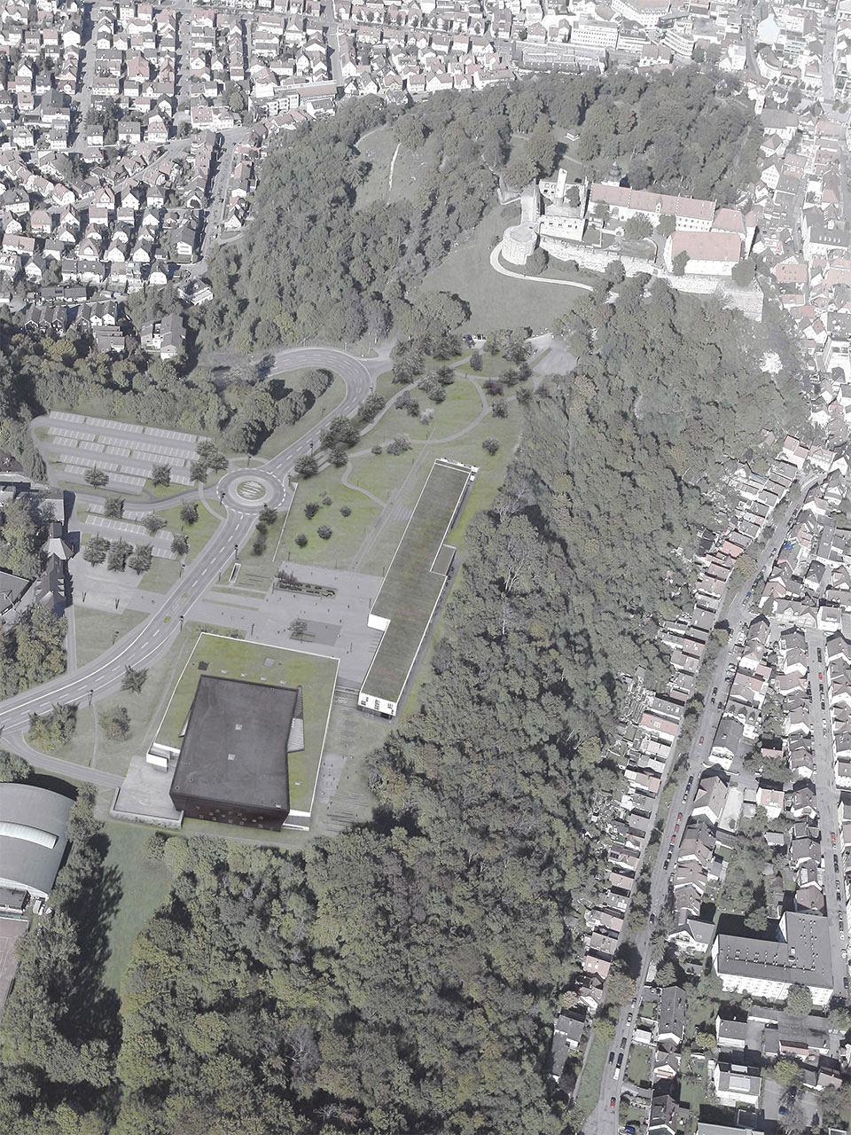 Neubau Congress Centrum und Tagungshotel Heidenheim, Luftbild