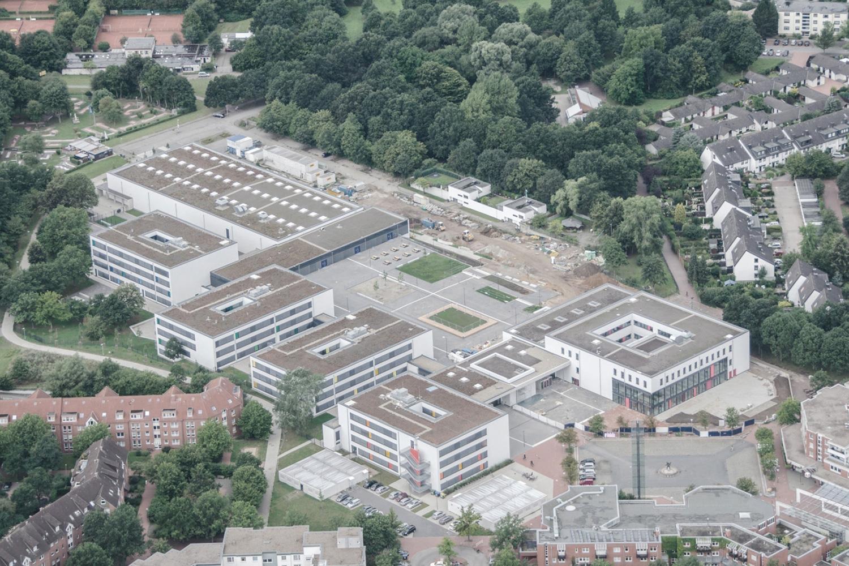 Neubau Integrierte Gesamtschule Hannover-Mühlenberg, Luftbild