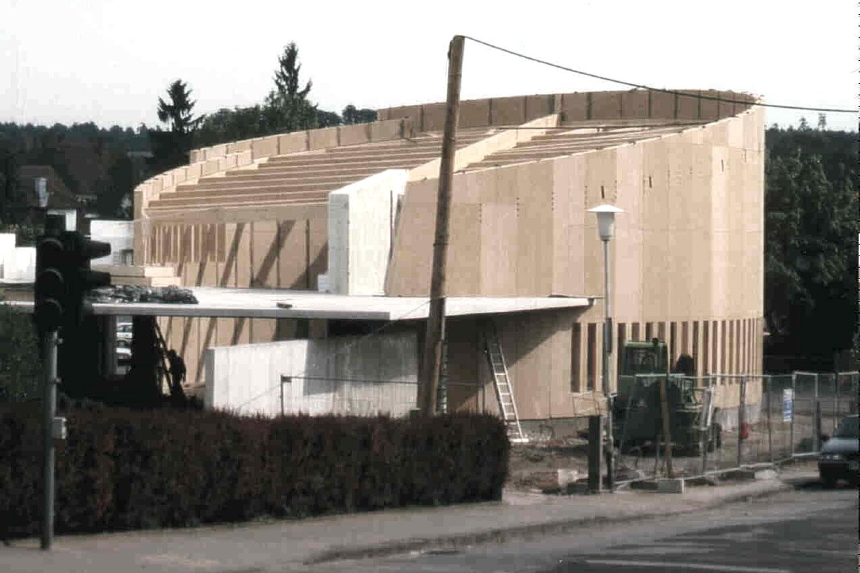 Neubau Kirchengebäude in Ansbach, Holzbau