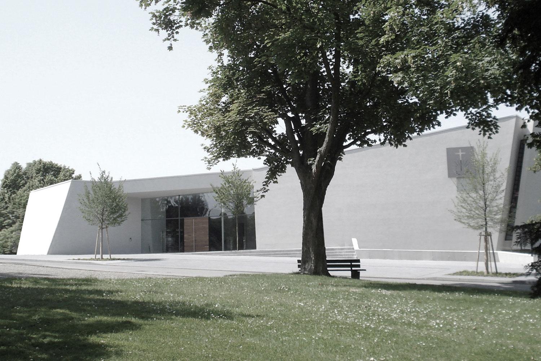Neubau Kirchengebäude Bruchsal, Eingangsfassade