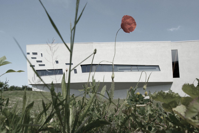 Neubau Kirchengebäude Bruchsal, Gartenansicht