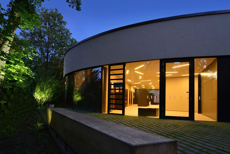 Neubau Kirchengebäude Ditzingen, Gartenansicht