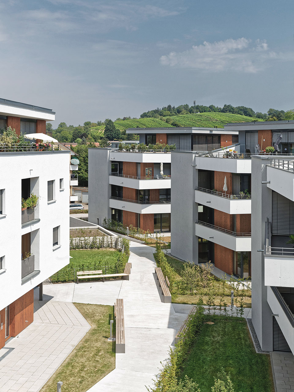 """Neubau Quartier """"Sommerhof"""" Denzlingen, Hofansicht"""