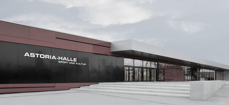 Neubau Sport- und Kulturzentrum Walldorf, Eingang