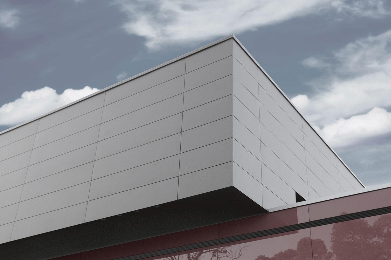 Neubau Sport- und Kulturzentrum Walldorf, Fassadendetail