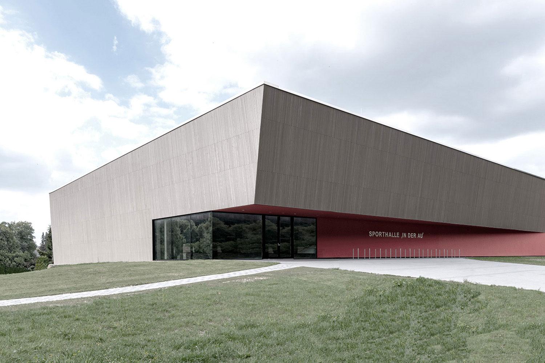 Neubau Sporthalle Sigmaringendorf, Eingang