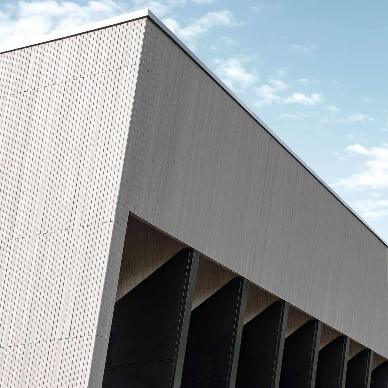 Neubau Sporthalle Sigmaringendorf, Fassadendetail
