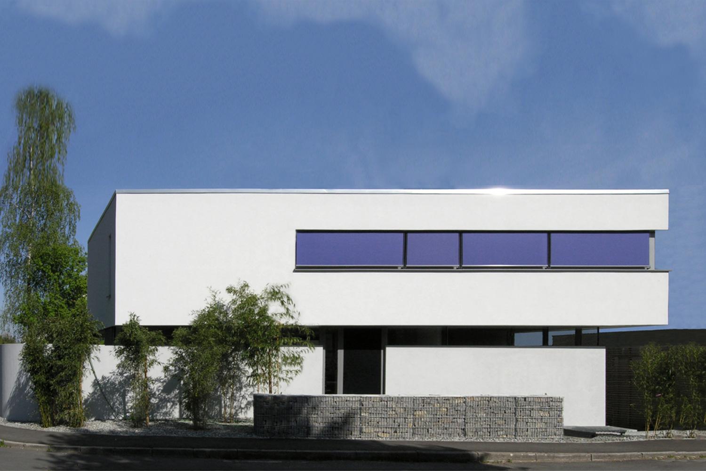 Neubau Wohnhaus Stuttgart-Vaihingen, Eingangsansicht