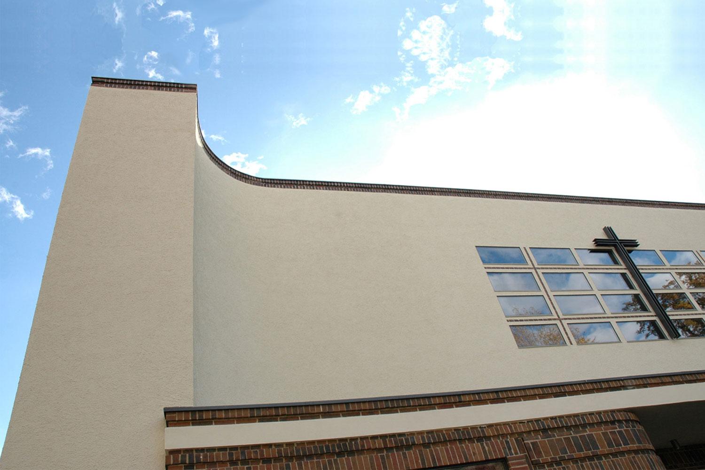Umbau und Restaurierung denkmalgeschützte Kirche Tübingen, Fassadenausschnitt