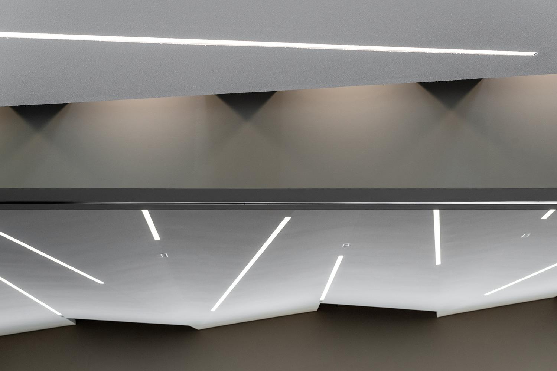Neubau Veranstaltungshalle Kuppenheim, Detail Deckengestaltung