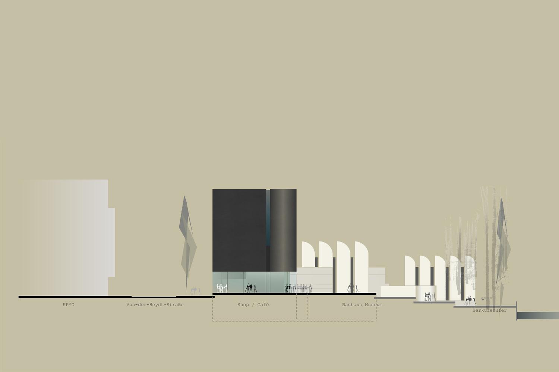 Wettbewerb Bauhaus-Archiv Museum für Gestaltung Berlin, Ansicht