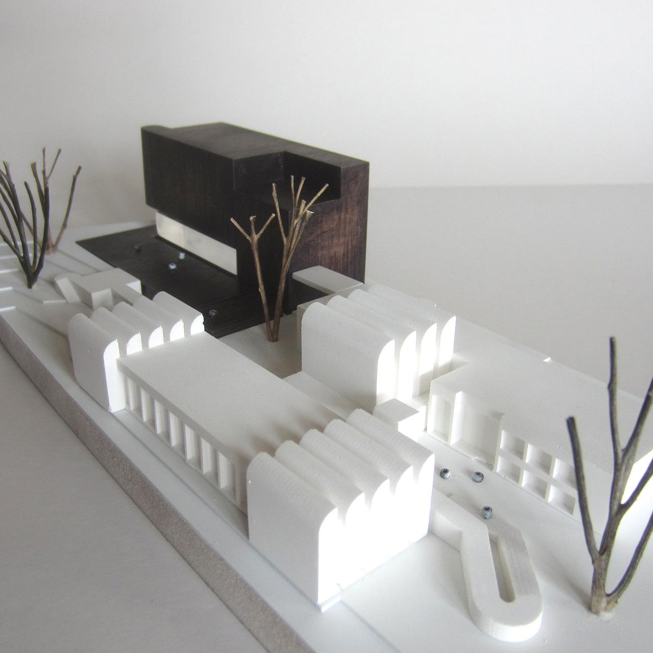 Wettbewerb Bauhaus-Archiv Museum für Gestaltung Berlin, Modell