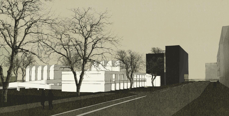 Wettbewerb Bauhaus-Archiv Museum für Gestaltung Berlin, Perspektive