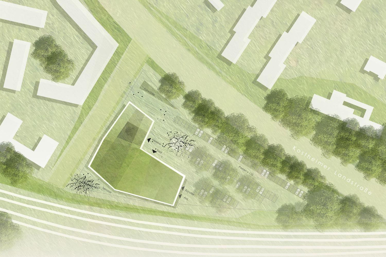 Wettbewerb Bürgerhaus Kastel und Kostheim, Lageplan