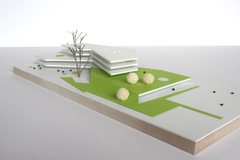 Wettbewerb Grundschule Europaviertel mit Kindertagesstätte und Sporthalle Frankfurt am Main, Modell