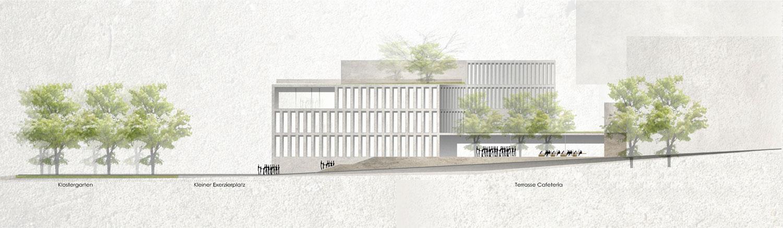Wettbewerb Internationales Wissenschaftszentrum Passau, Ansicht Nord